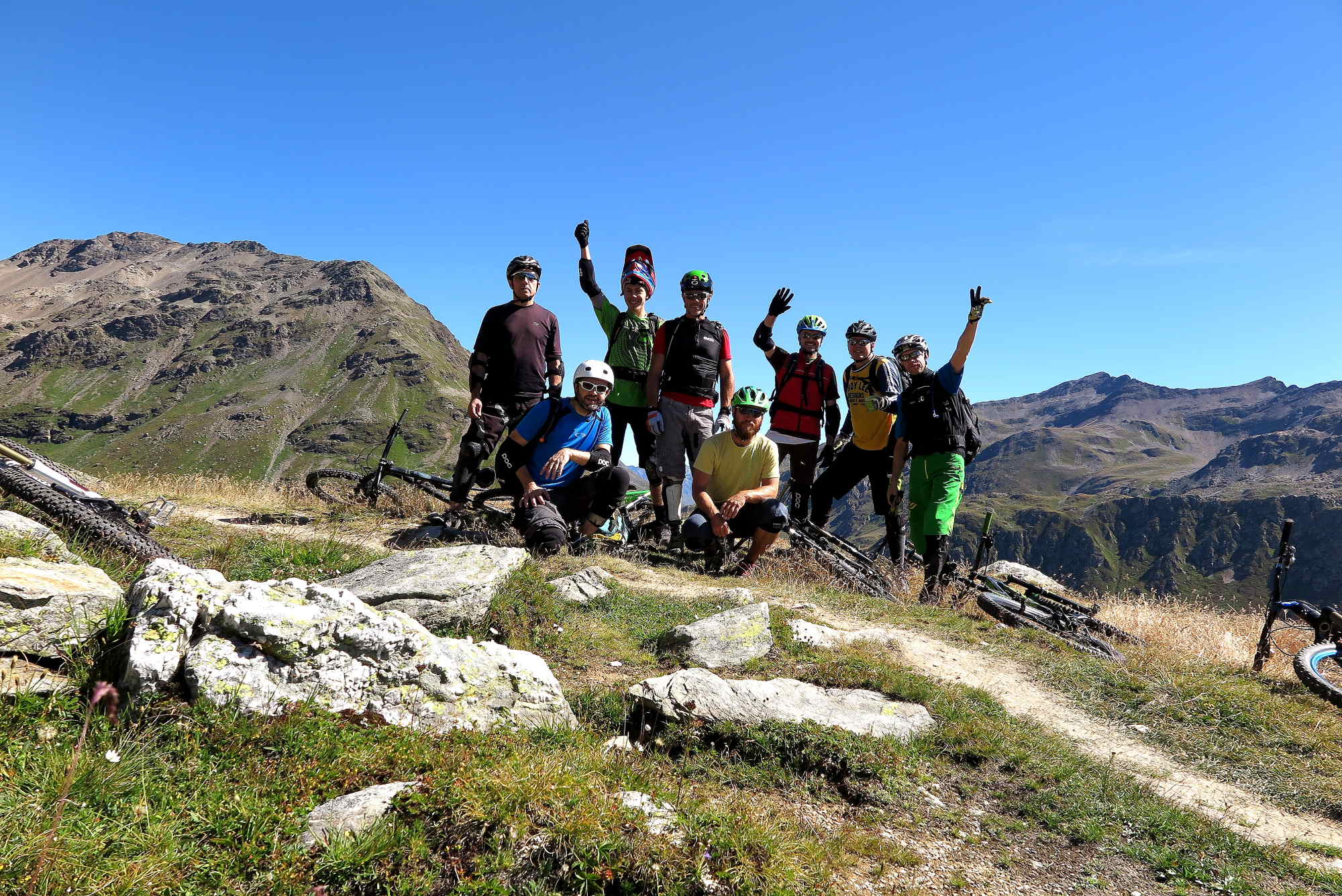 Ride Alpine Trails Mountainbike Freeride & Enduro Camp MTB Freeride Alpin Camp Westalpen Bikebergsteigen Ride on
