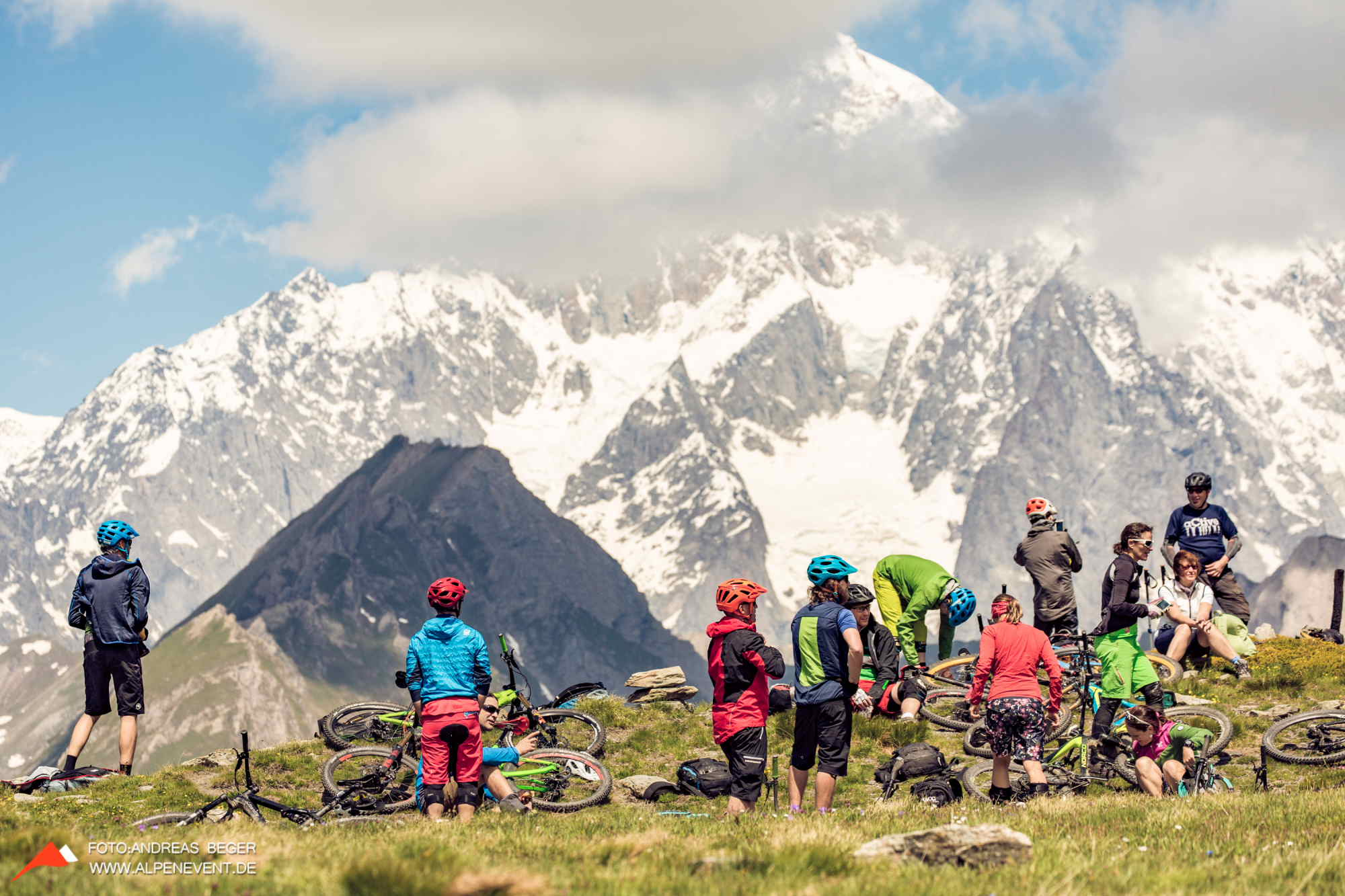 Alpine Flow am Mont Blanc - Team